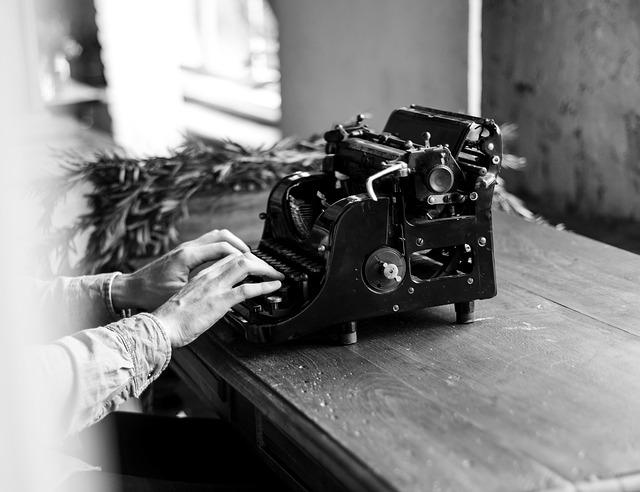 typewriter typing books for teens