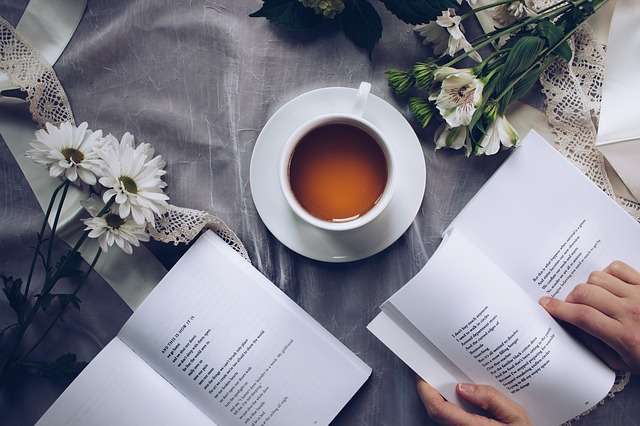 poem analysis of book on desk
