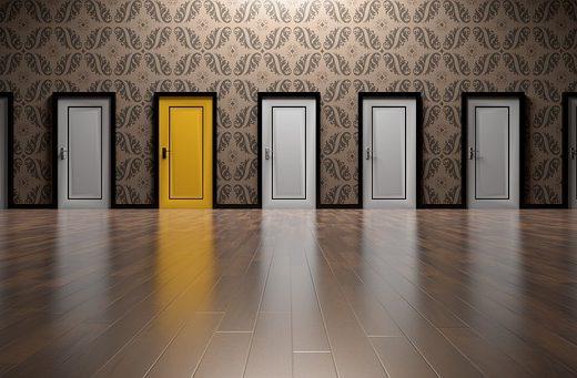 a-levels choice - choosing between different doors