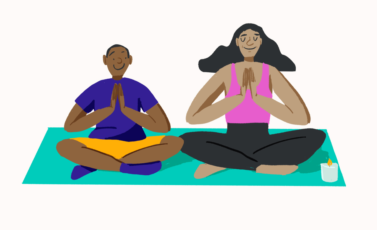 illustration-mother-and-son-yoga