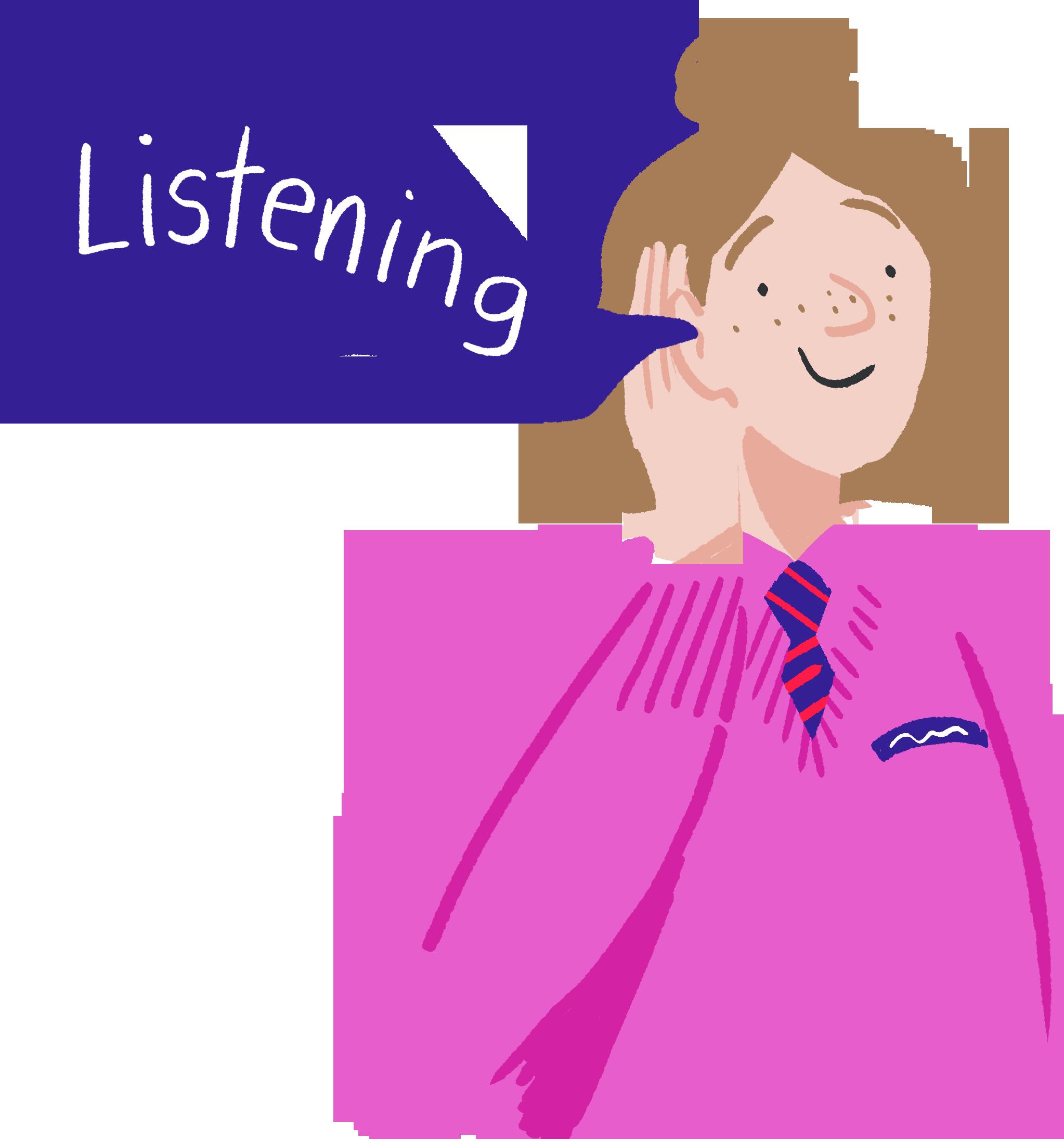 illustration-listening